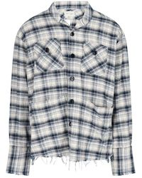 Greg Lauren Checked Long-sleeve Shirt - Multicolour