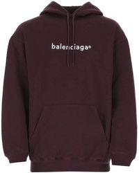 Balenciaga New Copyright Hoodie - Purple