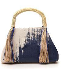 Issey Miyake Tassle Tote Bag - Blue
