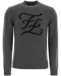 Fendi Karligraphy Pullover - Gray