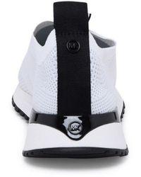 MICHAEL Michael Kors Sneaker Bodie Slip-on In Mesh Metallizzato Bianca - Multicolor