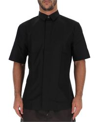 Dior Homme Bee Embroidered Short Sleeve Shirt - Black