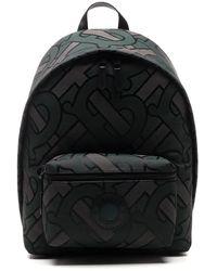 Burberry Monogram Jacquard Backpack - Green