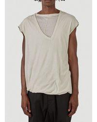 Rick Owens Gethsemane Double Dylan T-shirt - Natural