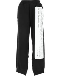 MM6 by Maison Martin Margiela Description Print Jogger Trousers - Black