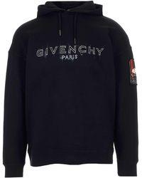 Givenchy Sketch Logo Hoodie - Black