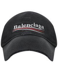 Balenciaga Political Campaign Baseball Cap - Black