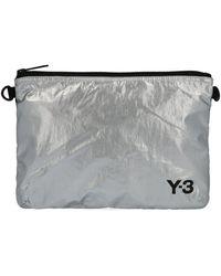 Y-3 Logo Clutch - Metallic
