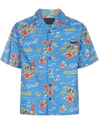 Prada Hawaiian Short Sleeve Shirt - Blue