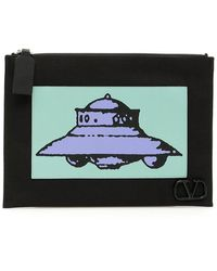 Valentino X Undercover Ufo Clutch Bag - Black
