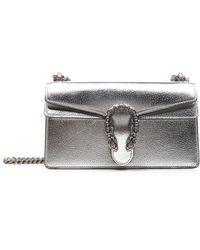 Gucci Dionysus Super Mini Bag GG Supreme Silver/black - Metallic