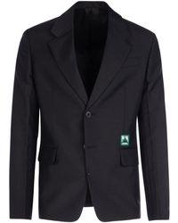 Prada Black Mohair Blend Blazer Nd Uomo