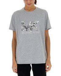 MICHAEL Michael Kors Sequin Embellished Logo T-shirt - Gray