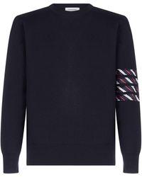 Thom Browne Milano Stitch 4-bar Pullover - Blue