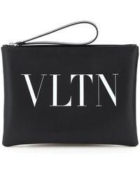 Valentino Vltn Clutch Bag - Black