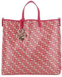 Pinko Monogram Printed Tote Bag - Red