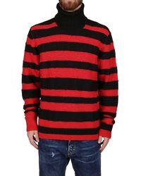 DIESEL K-brenton Striped Turtleneck Jumper - Red