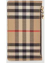 Burberry Vintage Check Zip Card Case - Multicolor