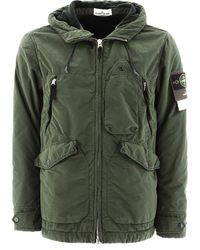 Stone Island David Hooded Jacket - Green