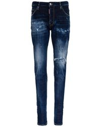 DSquared² Cool Guy Jeans In Washed Denim - Blue