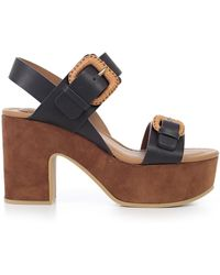 See By Chloé - Nora Buckle Strap Platform Sandals - Lyst