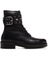 RED Valentino Redvalentino Sky Combat Boots - Black