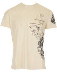 Alexander McQueen Graphic Print T-shirt - Natural