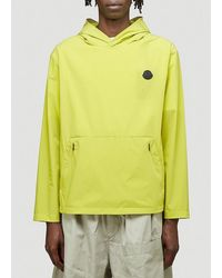 Moncler Perforated Logo Patch Windbreaker - Yellow