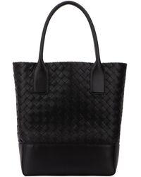 Bottega Veneta Intrecciato Tote Bag - Black
