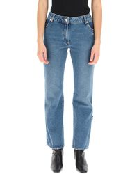 Off-White c/o Virgil Abloh Cropped Jeans - Blue
