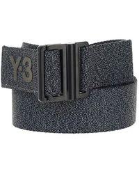 Y-3 Logo Detailed Buckle Belt - Black