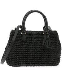 Lauren by Ralph Lauren Marcy Top Handle Shoulder Bag - Black