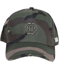 Philipp Plein Camouflage Baseball Cap - Green