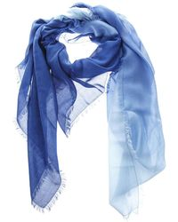 Fendi Frayed Edge Scarves - Blue