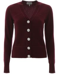 Ganni Buttoned Cardigan - Red