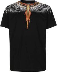 Marcelo Burlon Grizzly Wings Crewneck T-shirt - Black