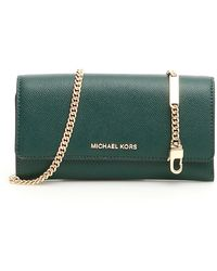 MICHAEL Michael Kors Wallet On Chain - Green