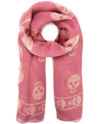 Alexander McQueen Skull Scarf - Pink