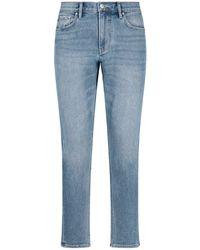 Burberry Kingdom Print Denim Trousers - Blue