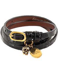 Alexander McQueen - Wrap Skull Charm Bracelet - Lyst