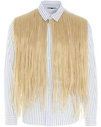 Comme des Garçons Fringe-detailed Shirt - Multicolor