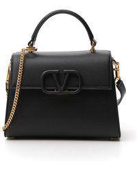 Valentino Vsling Top Handle Tote Bag - Black