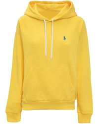 Polo Ralph Lauren Logo Embroidered Hoodie - Yellow