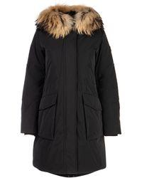 Woolrich Fur Trimmed Parka - Black
