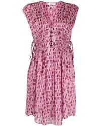 Étoile Isabel Marant Sleeveless Tie-waist Dress - Red