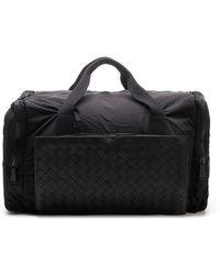 Bottega Veneta Intrecciato Detail Duffle Bag - Black