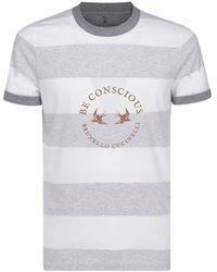 Brunello Cucinelli Striped T-shirt - Multicolour