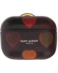 Saint Laurent Leather Airpods Case - Multicolour