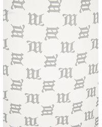 MISBHV Reflective Monogram Lara Biker Shorts - White