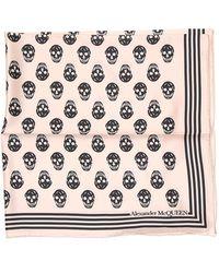 Alexander McQueen Mini Skull Print Scarf - Multicolor